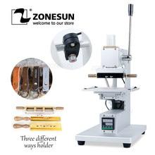 ZONESUN – Machine d'estampage à chaud pour portefeuille en cuir et bois, outil de presse à chaud avec localisateur infrarouge