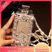 럭셔리 블링 크리스탈 다이아몬드 매는 밧줄 체인 TPU 삼성 갤럭시 Note8 참고 9 참고 10 프로 플러스 + 참고 S 10 9 S8 S9 S20 전화 케이스