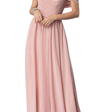 Bridesmaid Dress Off-The-Shoulder Vestidos-De-Fiesta Chiffon Formal Long Ruched Long