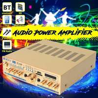 Hot Sales AUX Audio Signal Input 600W 5CH Stereo bluetooth Amplifier Board VU Meter Support FM USB SD with Remote Control