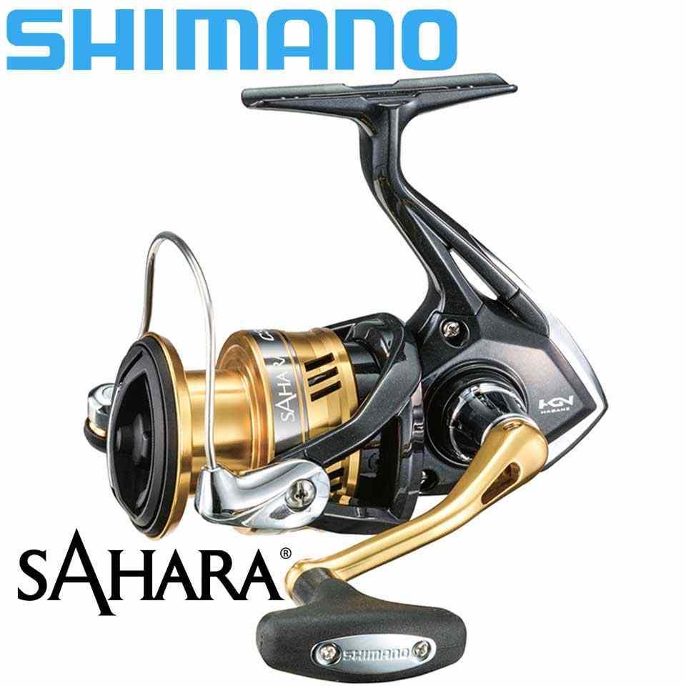 Shimano Reel Sahara Spinning Vissen Reel 4 + 1BB 5.0:1/6.2:1 Verhouding Metal Spool 9-11Kg Power Hgn Gearing Saltewater Vissen Rollen