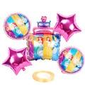 1 комплект диснеевской принцессы торт фольга детские надувные шарики Платье на день рождения украшения Дети гелиевые шары Свадебные подарк...