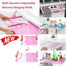 Multifunction home balcony hanger Home Windowsill Hanging Shelf Adjustable Clothes Shoes Drying Rack organizer shelves
