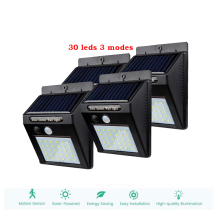 цена на 2/4PCS 30 LED Solar Light Super Bright Solar Motion Sensor Light Weatherproof Solar Lights Outdoor Wireless Solar Motion Securit