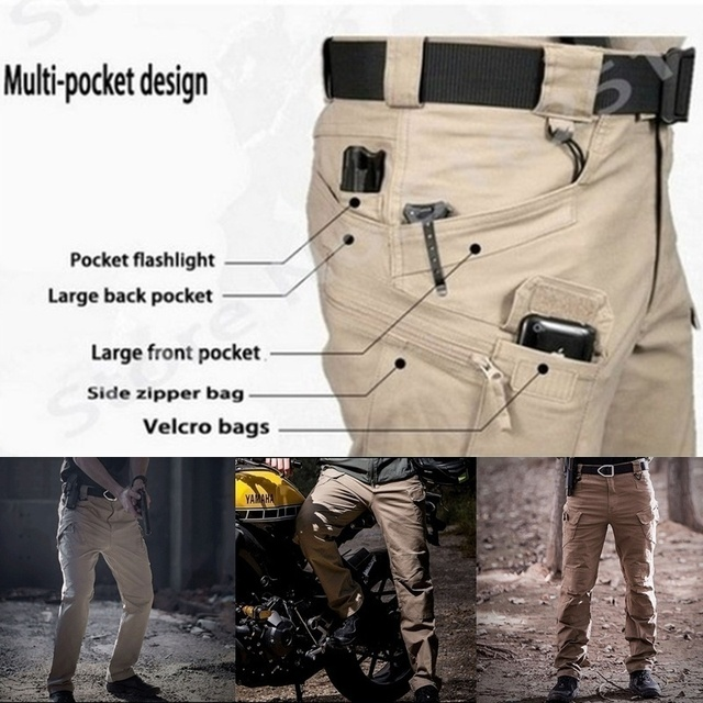 6XL Men Casual Cargo Pants Classic Outdoor Hiking Trekking Army Tactical Joggers Pant Camouflage Military Multi Pocket Trousers 5