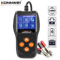 Konnwei kw600 testador de bateria carro 12 v 100 a 2000cca 12 volts ferramentas da bateria para o carro rápido cranking carregamento diagnóstico