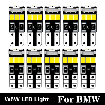 10pcs LED Lights W5W T10 Car Auto 168 2825 Lamp 2835 SMD Bulb For audi BMW E91 E92 E93 E28 E61 F11 E63 E64 E84 E83 F25 E70 White image