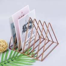Iron Storage Rack Book Magazine Holder Organizer Book Stand for Home Office Decor iron bookshelf magazine display stand newspapers storage rack vintage organizer storage holder office decor book rack bookends