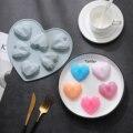 6 Сетка со стразами в форме сердца силиконовая форма для выпечки тортов с антипригарным покрытием Сплошной Цвет инструмент для выпечки пече...