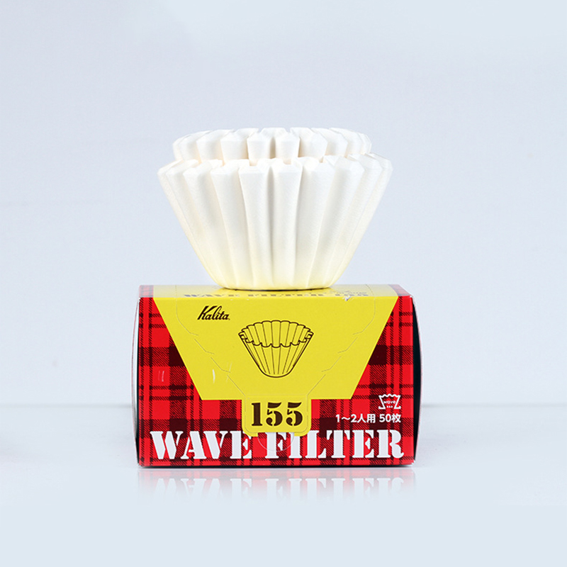 KALITA WAVE WHITE PAPER FILTER 50 SHEETS COFFEE FILTER PAPER 1-2/2-4 CUPS Create An Optimal And Consistent Brew For Wave Dripper