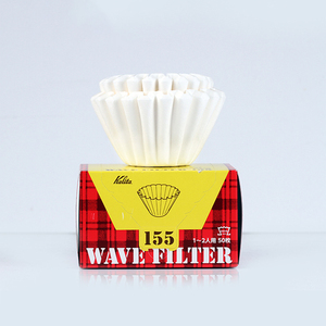 KALITA WAVE WHITE PAPER FILTER 50 SHEETS COFFEE FILTER PAPER 1-2/2-4 CUPS create an optimal and consistent brew for Wave dripper(China)
