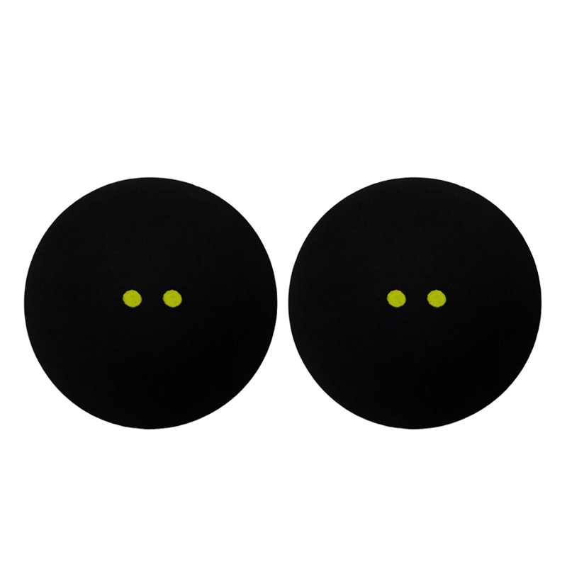 Squash Ball Two-Yellow Dots Low Speed Sports Rubber Balls Professional Player Competition Squash(2 Pcs )