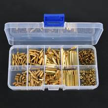 320Pcs M2 Brass Hex Standoff Nut Spacing Screw Assortment Set Male Female Threaded Hollow Pillar PCB Motherboard Spacer Standoff