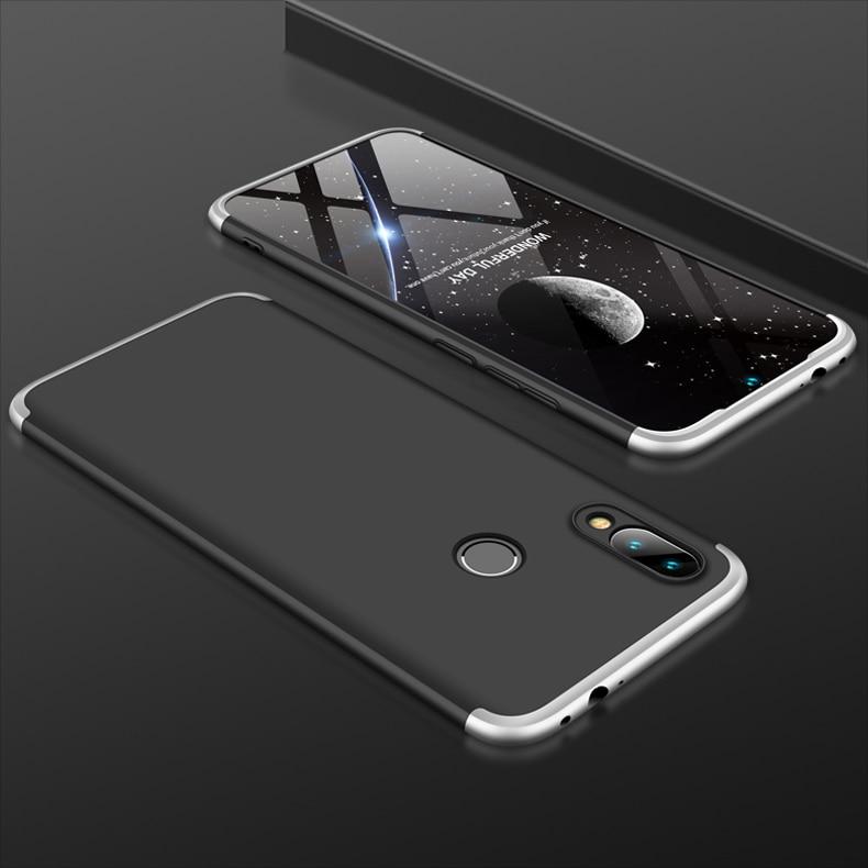 Hf72649e2fa0e4dcfb16f398cce5e2dbae 3-in-1 Plastic Hard 360 Tempered Glass + Case for Xiaomi Redmi Note 7 Anti-Shock Back Cover Case for Xiaomi Redmi Note 7 Pro 7A