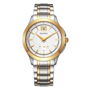 Image 3 - Faleda ビジネスカレンダー腕時計防水サファイアガラスステンレススチールケーススポーツ腕時計男性レロジオ masculino