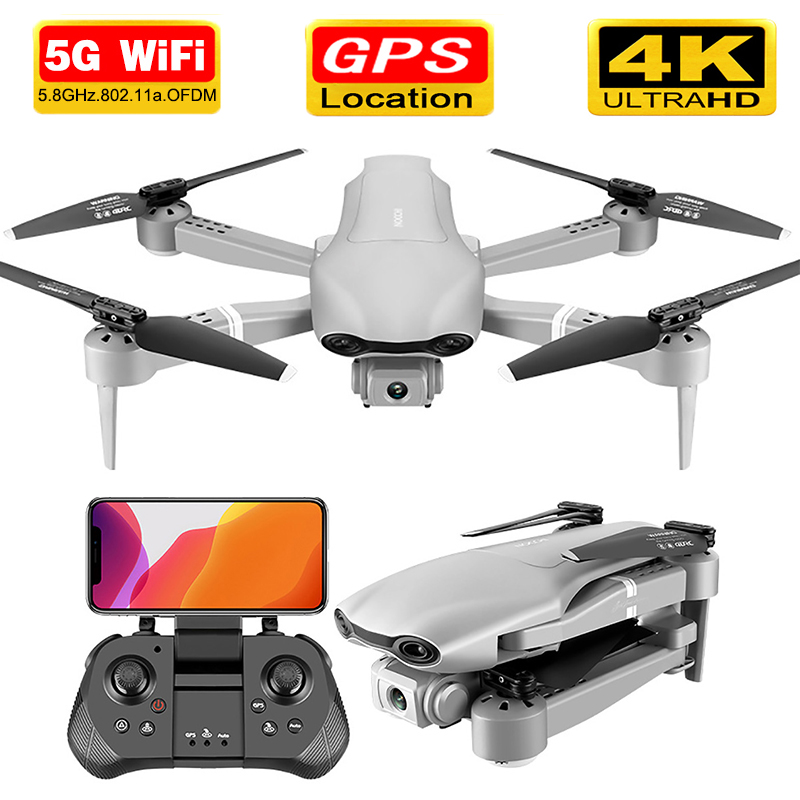 Drone GPS 4K 5G WiFi Live Video FPV 4K/1080P HD Wide Angle Camera Foldable Altitude Hold Durable Portable RC Quadcopter