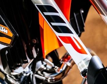2X cinta de vinilo de estilo de coche, etiqueta adhesiva de choque de suspensión de motocicleta para Duke 390/690/1090/1190/1290
