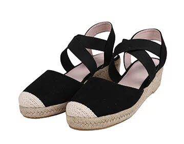 Hf7266bdab52848eabbf186728552f5a79 Women Wedges Sandals shoes woman Casual Summer Gladiator Retro Female Sandals Flock Ladies Party Office women Shoes dropshipping