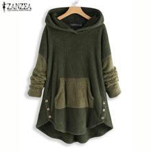 ZANZEA Women Hoodies Sweatshirt Winter L