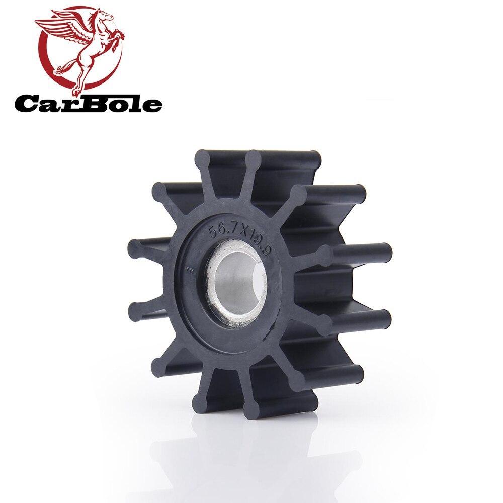 CarBole Sherwood 12 Blades Water Pump Impeller Kit 10077K M-5 Onan 132-0375 Westerbeke 11764 33100 Universal 287439 For Boats