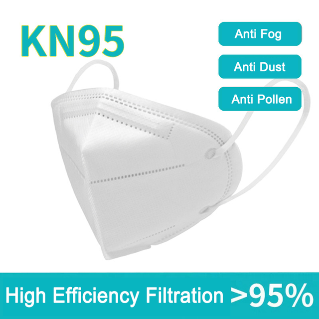 20PCS KN95 mask disposable filter protective mask 5 layers adult anti-pollution dust mask