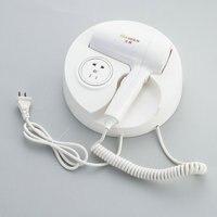 ITAS1284 Hotel Round Wall-mounted Electric Hair Dryer Household Bathroom Hair Dryer Skin Dryer White