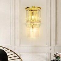 Postmodernen gold LED kristall wand lampe schlafzimmer nacht beleuchtung treppen gang leuchte hotel zimmer lichter-in LED-Innenwandleuchten aus Licht & Beleuchtung bei