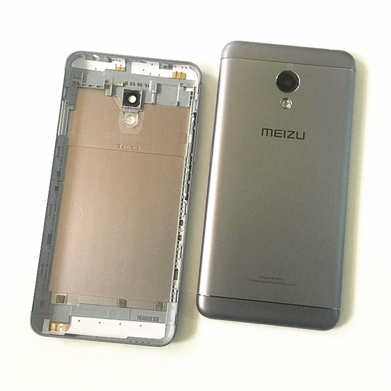 For <font><b>MEIZU</b></font> <font><b>M3S</b></font> Back Battery Cover Rear Door Housing Chassis Case For <font><b>Meizu</b></font> <font><b>M3S</b></font> mini Battery Cover With <font><b>Camera</b></font> Lens Side Buttons image