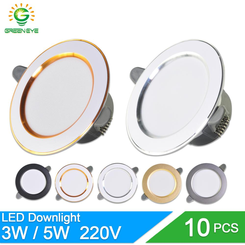 10Pcs Led Downlight 3w 5w Spot Led Light 3000k 4500K 6000K AC 220V-240V Downlight Kitchen Living Room Indoor Recessed Lighting