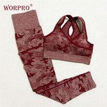 נשים camo יוגה סט ספורט אימון חותלות חדר כושר סט בגדי כושר חותלות ולמעלה עבור כושר נשים ספורט חליפות כושר ללבוש