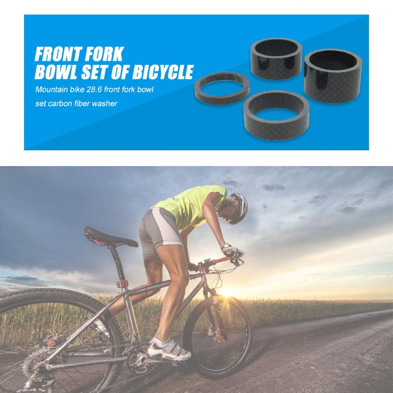 4pcs/set Bicycle Front Fork Washer Lightness And Portability No Space Occupy MTB Carbon Fiber Headset Spacer 5/10/15/20mm
