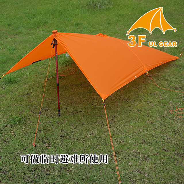 3F UL Gear 3 in 1 Poncho Tarp Raincoat Groundsheet  Shelter 3