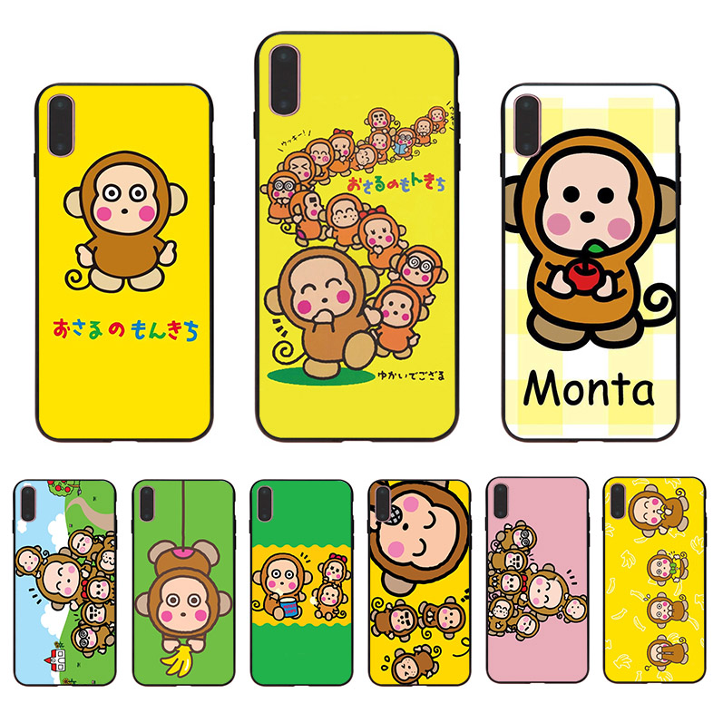 Cute cartoon monkey soft TPU cover phone case for iphone XR X XS 11 pro max 7 8 6 6s plus 5s se 5 10 funny shell Coque Funda