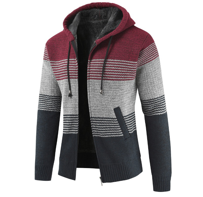 Thick Warm Hooded Cardigan Sweater 13