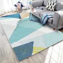 Modern Geometric Printing Bedroom Non-slip Floor Mats For Living Room Nordic Geometric Decorative Carpets Can Be Washed