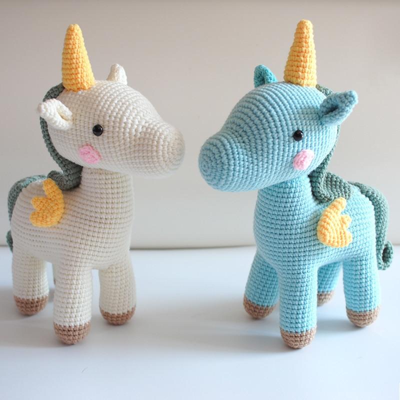 Cute Baby Girl Boy Photography Prop Photo Hook Woven Toy Cute Little Unicorn Crochet Hug Handmade Handmade Toys Bebe Reborn Lol