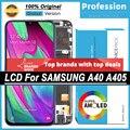 100% Оригинальный 5,9 ''AMOLED дисплей для Samsung Galaxy A40 2019 A405 Полный ЖК сенсорный экран Запасные части + Сервисный пакет