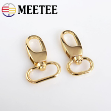 5pcs Meetee 25mm Metal Luggage Buckles Bag Hook Clasp Dog Collar Snap Buckle For Sewing Handbag Hardware Accessories F1-28