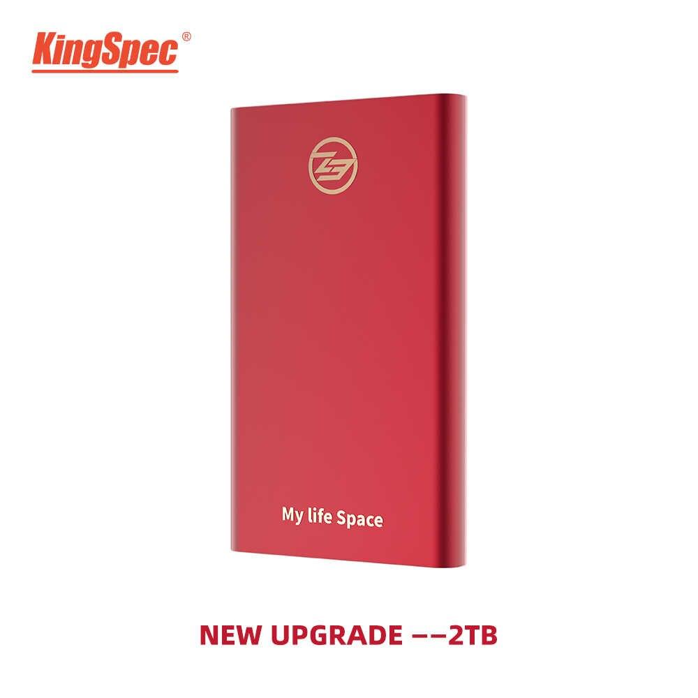 KingSpec Bên Ngoài SSD 250 GB SSD 500 GB 120 GB 1TB SSD USB3.1 Loại- C Rắn Đĩa HD USB3.0 dành cho laptop