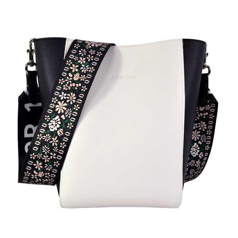 Double-Sided Bags Shiling White with Black Wide Ribbon Different Size Bags Bag with Chain Small Different Size Bags OEM Shoulder