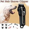 Recortadora de pelo de perro recargable de 100-240v para cortador de gatos máquina de aseo cortadora de cabello para animales recortadora de pelo de perro