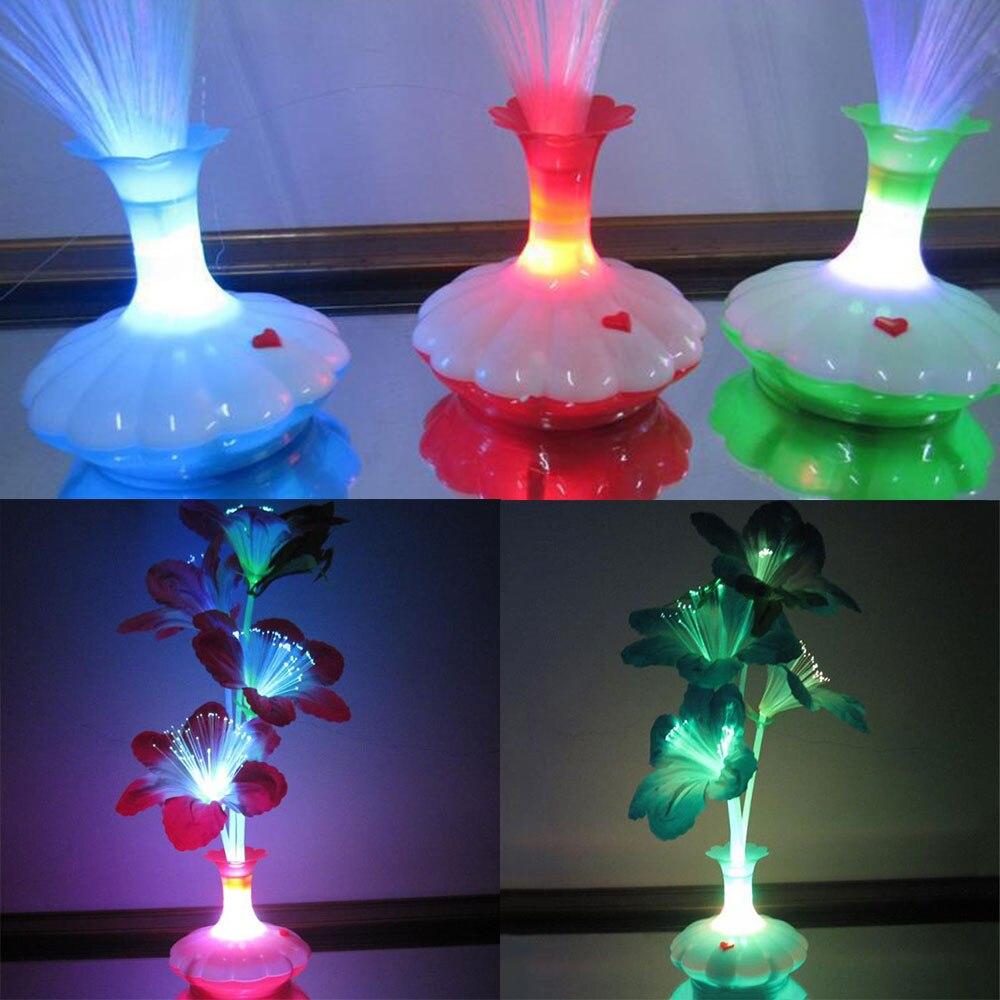 Светодиодный оптоволоконный цветок капок ваза Оптическое волокно лампа, декоративное освещение приспособление