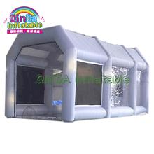 26ft długa nadmuchiwana kabina lakiernicza farba w sprayu kabina na sprzedaż malowanie kabina lakiernicza z fabryki Guangzhou tanie tanio qinda inflatable 12 + y CN (pochodzenie) Basen Duży zewnętrzny pompowany rekreacyjny