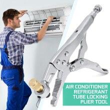 Drillpro Air Conditioner Refrigerant Recovery Refrigeration Tube Steel Locking Plier Hand Tool