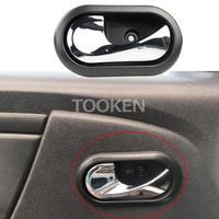 Manijas de puerta Interior de coche Interior puerta 8200733848 mando 8200733847 para Renault Logan Duster 2012, 2013, 2014, 2015, 2016