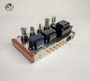 Image 2 - 2021 Nobsound Family 2.0 wzmacniacze lampowe DIY Kit 5U4C + 6H8C + 6P3P obudowa ze stali nierdzewnej moc wyjściowa 2*8W AC110V/220V