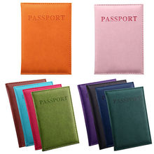 Women Men Classic Passport Cover Travel Hiking Passport Case ID Card Cover Versatile Solid Cards Holder Protector Organizer 2020(China)