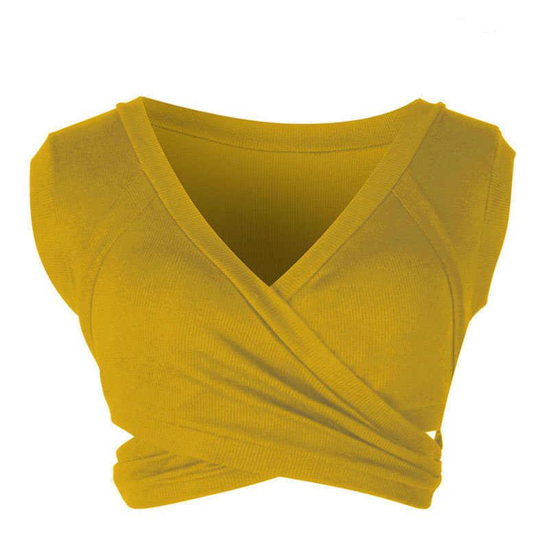 Zhangyunuo Sexy Sport Crop Tops Vrouwen Yoga Top Mouwloze Strapless Lumbale Vest Workout Gym V-hals Fitness Droge Fit Actieve dragen