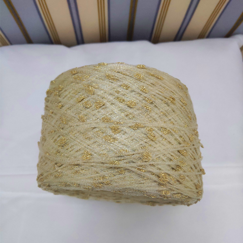Unique New Import 250g Beautiful Golden Metallic Slub Yarn Blend Fibre Hand Knitting Crochet Fancy Yarn Z3953