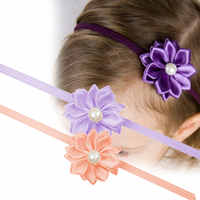 0-7 ans bébé nouvellement Design petites filles strass perle fleur bandeaux bref Kiddo bandeaux livraison directe